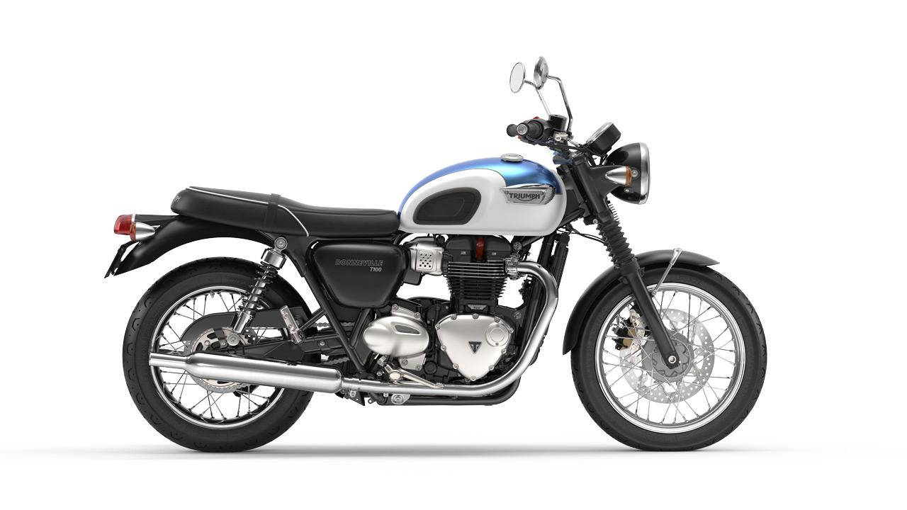 Bonneville T100 Aegean Blue