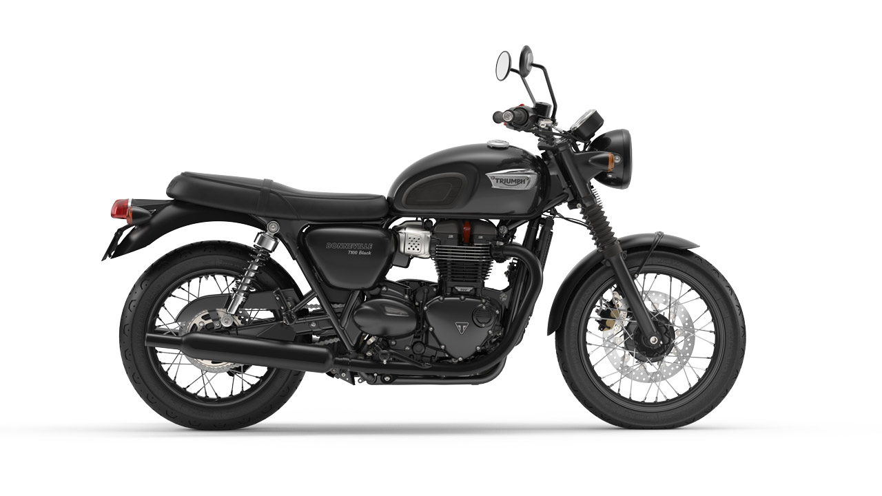 Bonneville T100 Black - Jet Black