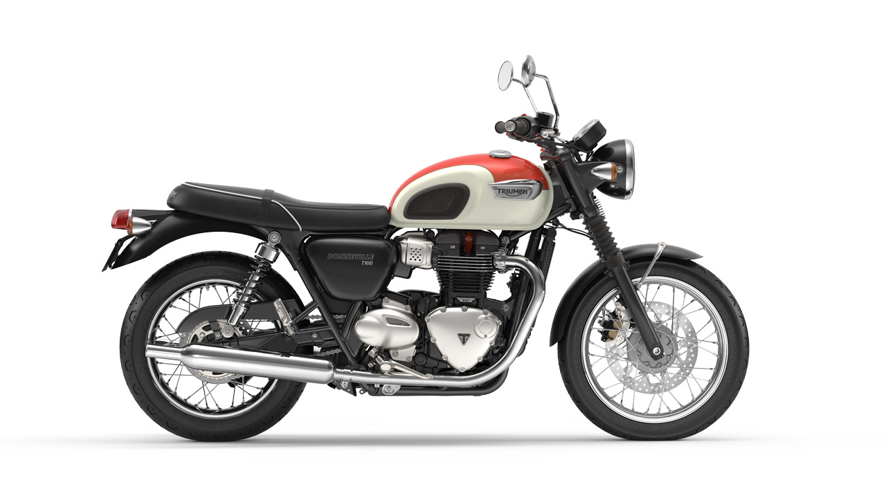 Bonneville T100 Intense Orange