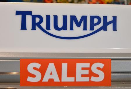 triumph sales